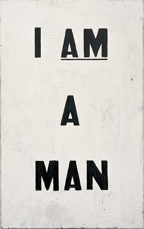 "Glenn Ligon, ""I Am A Man"", 1988.  Photo Credit, Whitney Museum of American Art"