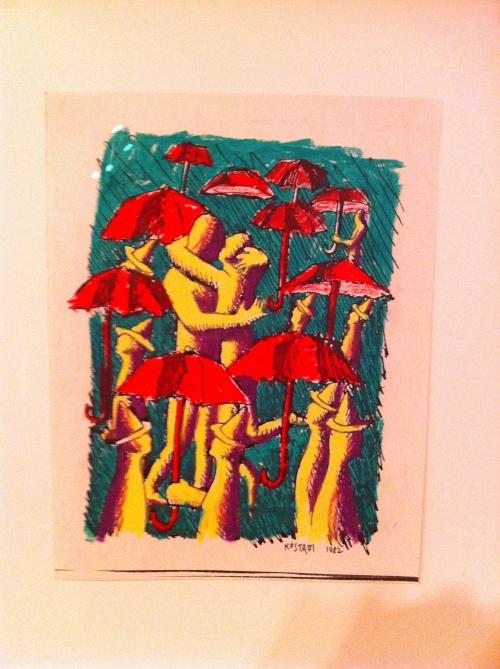 """Mark Kostabi, """"Media Shower"""", 1982"""