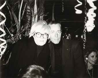 Warhol and Halston. @ Studio 54.  Photo Credit, Christie's