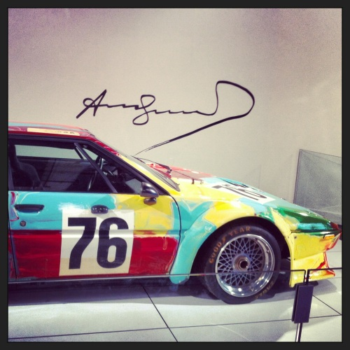 Andy Warhol designed BMW M1 Art Car #4 circa 1979