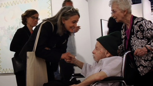 Herb and Dorothy Vogel at Art Basel Miami Beach, 2008