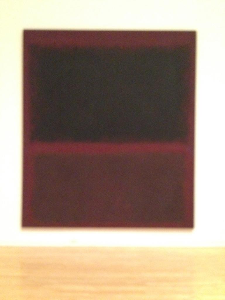 "Mark Rothko, ""Black on Dark Sienna"", 1960"