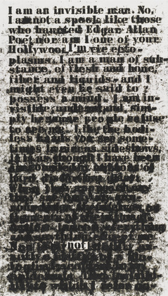 "Glenn Ligon, ""Invisible Man"".  Photo Credit: MoMA"