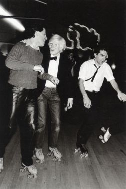 Andy Warhol at the Roxy circa 1980