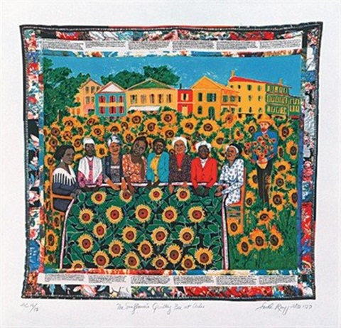 faith-ringgold-the-sunflowers-quilting-bee-at-arles