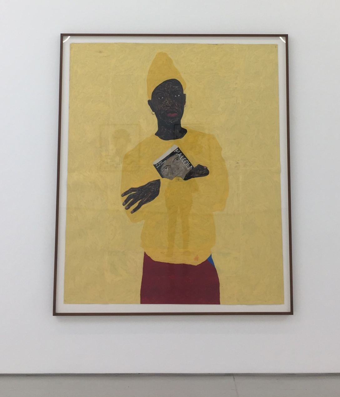 Amoako Boafo, In Yellow with Malcolm, 2018