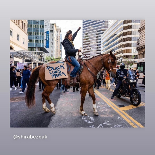 5/29/20 Downtown Oakland. Brianna Noble. Photo: Shira Bezoak